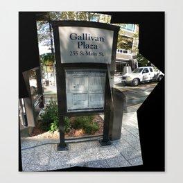 Sign at Gallivan Plaza, September 2012 Canvas Print