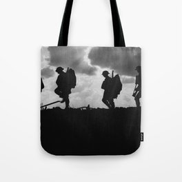 Soldier Silhouettes - Battle of Broodseinde Tote Bag
