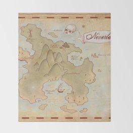 Map of Neverland Throw Blanket