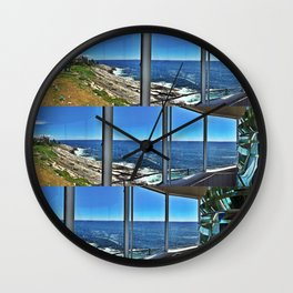 View from Inside Pemaquid Point Lighthouse in Maine (2) Wall Clock