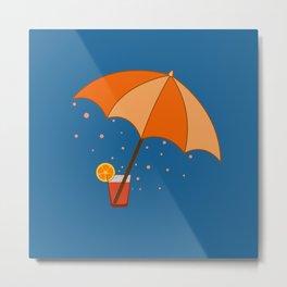 big cocktail umbrella Metal Print