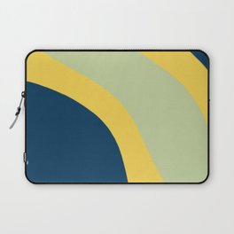 Navy Blue, Yellow and Sage Abstract Shapes Laptop Sleeve