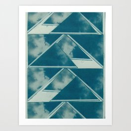 Sky triangle collage. Art Print
