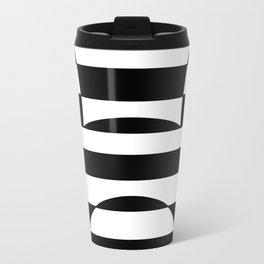 Striped Contrast Travel Mug
