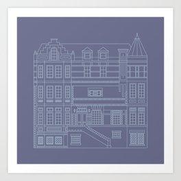Very Royal - Blueprint Art Print
