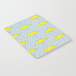 Raining Yellow Umbrellas Notebook