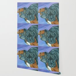 Boxer Buddies Dog Portrait Wallpaper