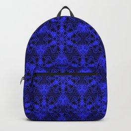 Mandala Pattern (Royal Blue/Black) Backpack