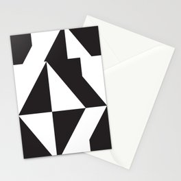 losanges noirs Stationery Cards