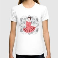dress T-shirts featuring Red Dress by Andrea Forgacs
