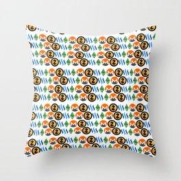 Crypto Pattern Throw Pillow