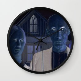 American Gothic REMIXED Wall Clock