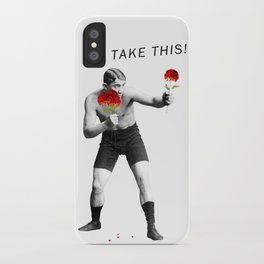 Floral fight - humor iPhone Case