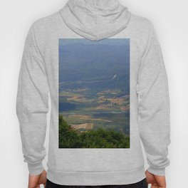River, Tree and Mountain Landscape Hoody
