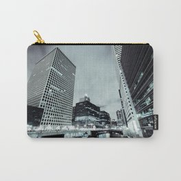 Cityscape River Night Photography Print Chicago Metropolis Carry-All Pouch