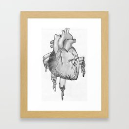 Heart Sketch Framed Art Print
