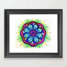 Seeing Flower Mandala Framed Art Print