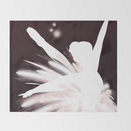 Space Ballerina (2 of 3) Throw Blanket