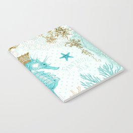 Blue Seahorse Notebook