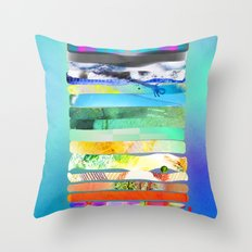 COLLAGE LOVE - a Princess and a pea  Throw Pillow