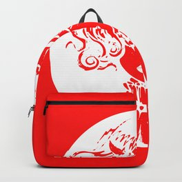 Woman eyes Satan coin Elegant clothes gift Backpack
