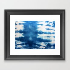 Horizontal Indigo Stripes Framed Art Print