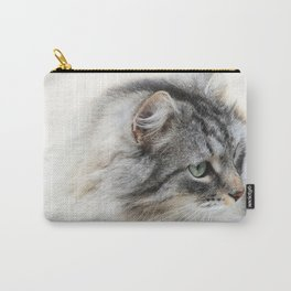 Silver Cat Carry-All Pouch