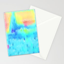Lingering Snows Melting In The Sun Stationery Cards
