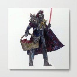 Cat Dad Vader Metal Print