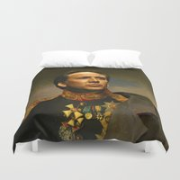 beast Duvet Covers featuring Nicolas Cage - replaceface by replaceface