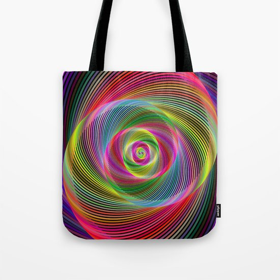 Psychedelic spiral dream Tote Bag