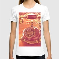 telephone T-shirts featuring old telephone by gzm_guvenc