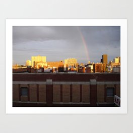 A photo out of the window of my old loft. Art Print