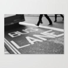 Bus line London Canvas Print