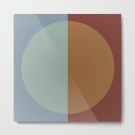 Color Block Abstract X Metal Print