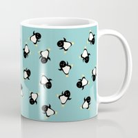 penguins Mugs featuring Penguins! by Kashidoodles Creations