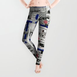 The Way of Invisible Things (P/D3 Glitch Collage Studies) Leggings