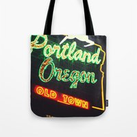 portland Tote Bags featuring Portland! by Elle Hanley Photography