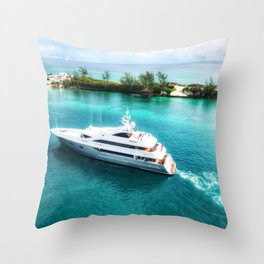 Sailing in the Bahamas Throw Pillow
