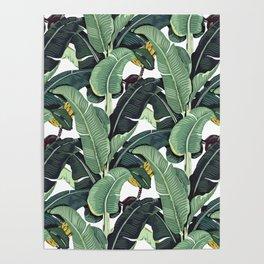 banana leaf pattern Poster