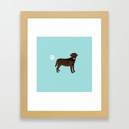 Chocolate Lab funny fart dog breed gifts labrador retrievers Framed Art Print