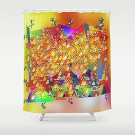 FUCKED UP ; Scratchy & Jerry Shower Curtain