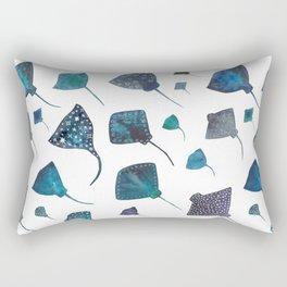 Stingray and Manta Ray Starry Ocean Pattern Rectangular Pillow
