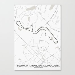 Suzuka International Racing Course, Suzuka Circuit Canvas Print