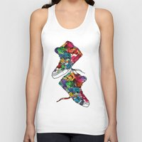 sneakers Tank Tops featuring Paint sneakers by Cindys