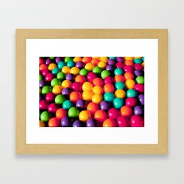 Rainbow Candy: Gumballs Framed Art Print