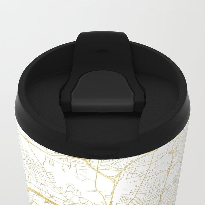Nashville Map Gold Metal Travel Mug