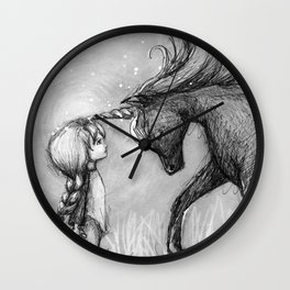 Enchantment of the Unicorn Wall Clock