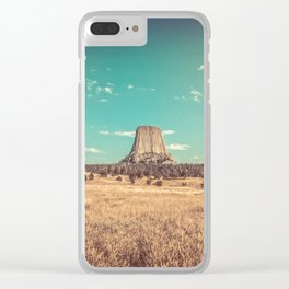 Devil's Tower National Monument Wyoming Clear iPhone Case