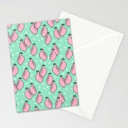 Lemons minimal triangles fruit citrus lemon pattern by andrea lauren Stationery Cards